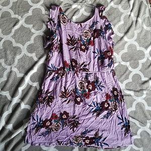 Purple Patterned Dress